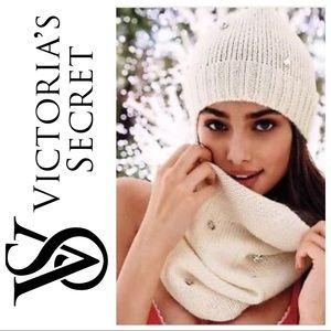 """Victoria""""s Secret Infinity Scarf with Rhinestones"""